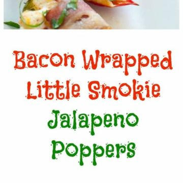 How about some bacon wrapped little smokie jalapeno poppers from CopyKat.com