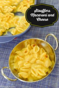 Stouffers macaroni and cheese in a bowl