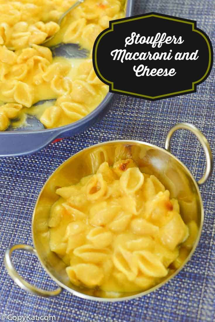 Stouffers macaroni and cheese from CopyKat.com