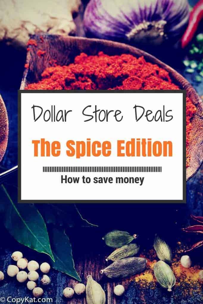 Dollar Store Deals Spices Save Money Pin