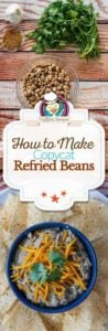 Refried beans photo collage