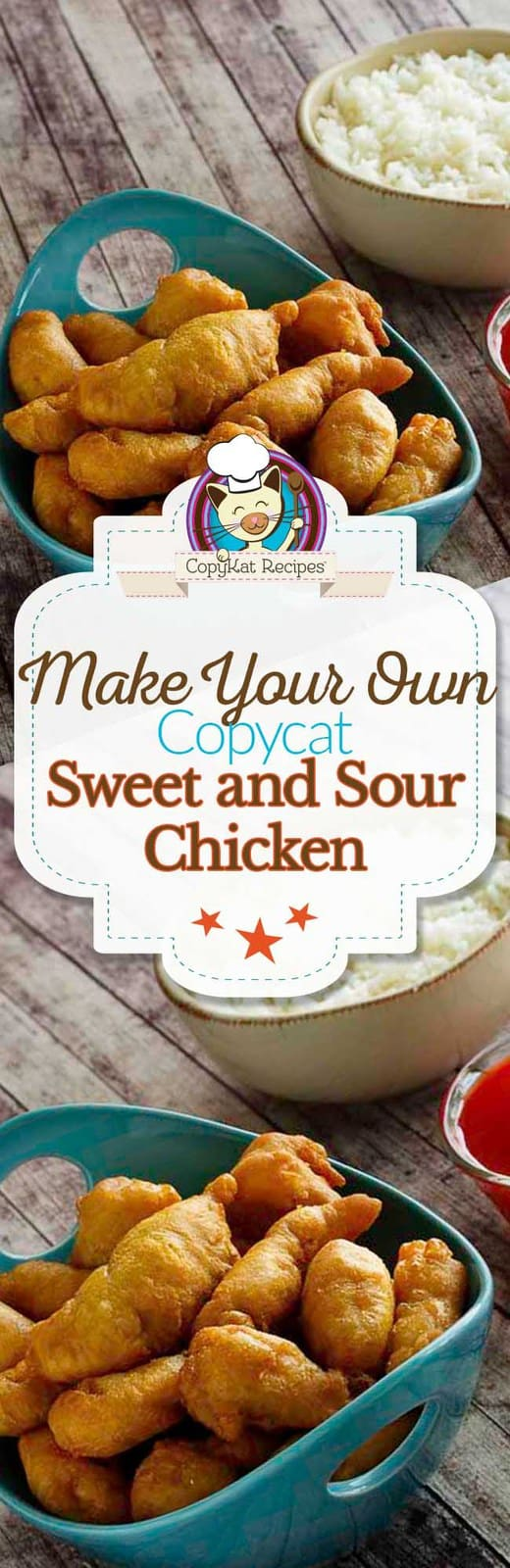 Make your own delicious Sweet and Sour chicken like it is served in a restaurant. #chicken #copycat #takeout #stovetop #Chinese