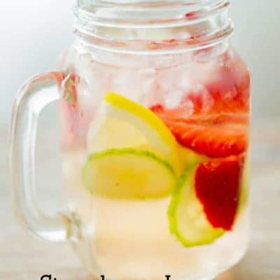 Strawbery Lemon Cucumber Water