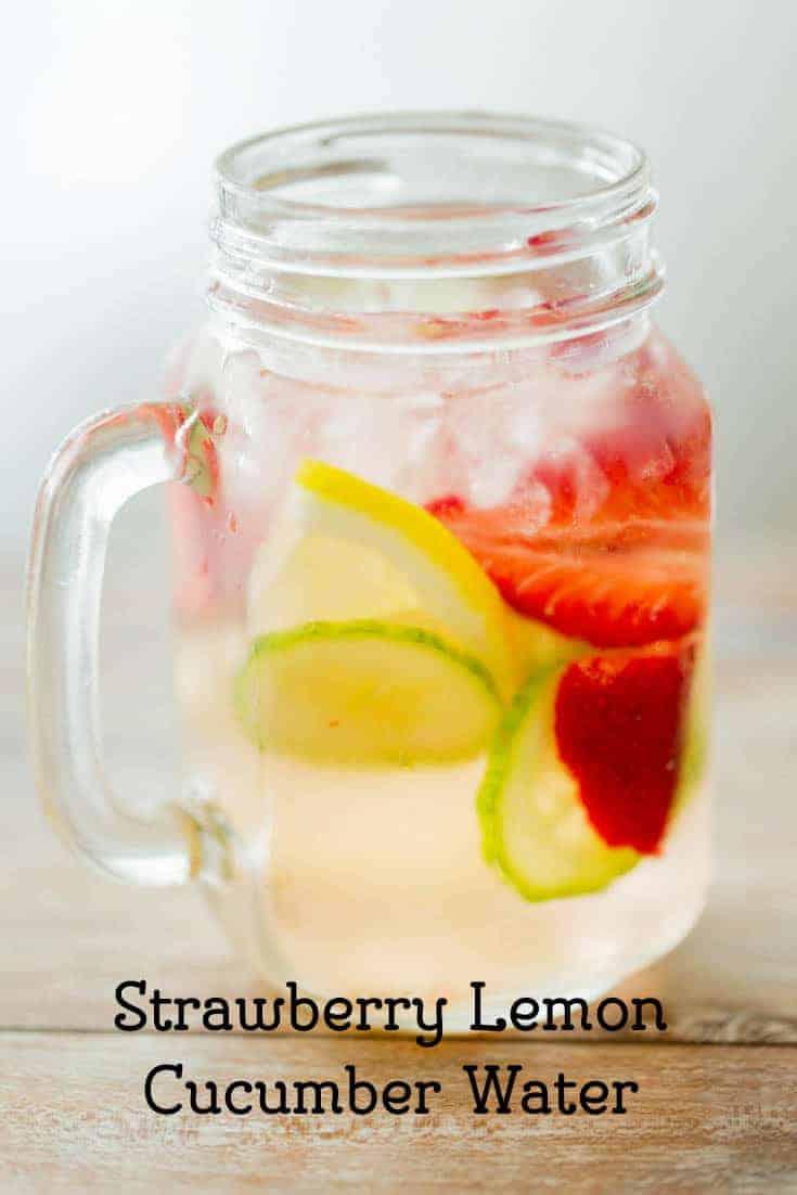 Strawbery Lemon Cucumber Water