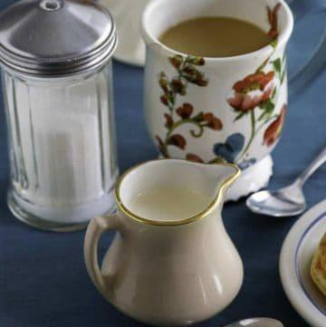 Homemade Amaretto Coffee Creamer made from scratch