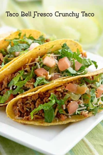 Make this copycat version of the Taco Bell Fresco Crunchy Taco. This recipe is a healthy taco recipe.