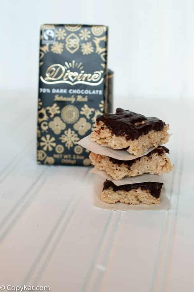 Chocolate Peanut Butter Rice Krispie Treats are a delicious take on your every day Rice Krispie treats.