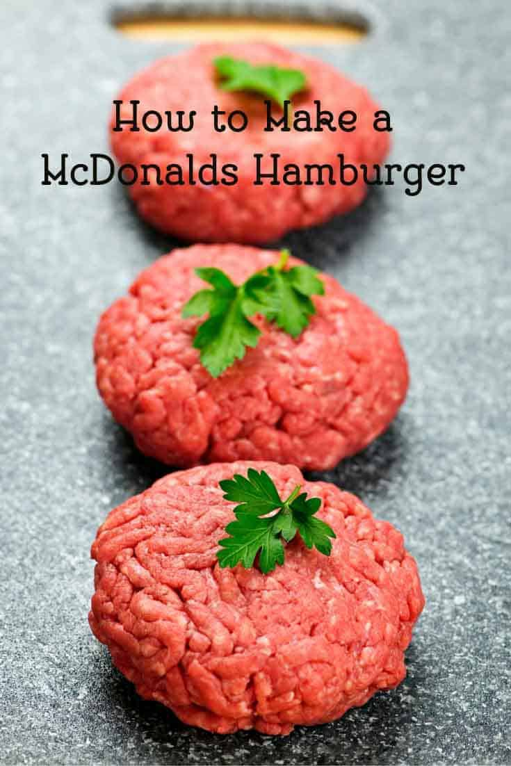 Learn how to make a delicious old fashioned McDonald's Hamburger  from CopyKat.com
