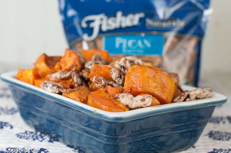 Roasted Sweet Potatoes with Candied Pecans.