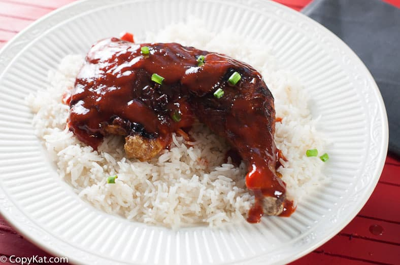 Don't miss out on this Sriracha honey glazed leg quarter