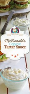 Homemade McDonalds tartar sauce photo collage