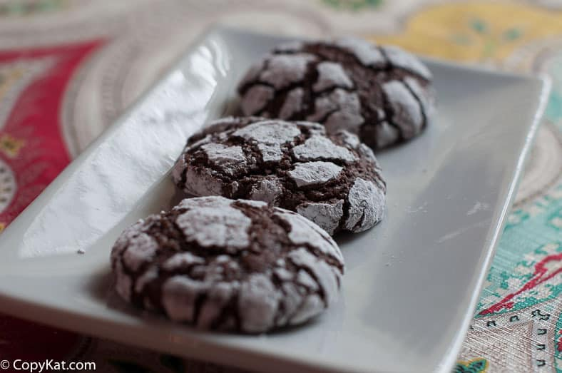 Close up of Chocolate Crinkle Cookies