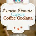 Homemade Dunkin Donuts Coffee Coolatta photo collage