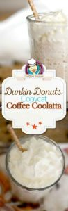 Homemade Dunkin Donuts Coffee Coolatta photo collage