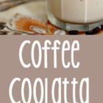 Photo collage of homemade Dunkin Donuts Coffee Coolatta