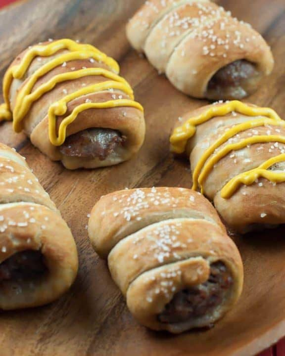 Make some of these delicious pretzel brats.
