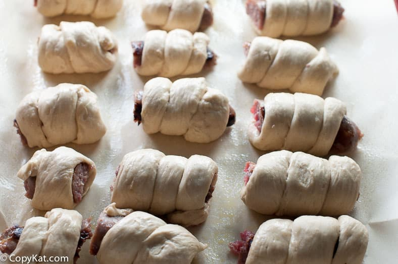 wrapped pretzel brats