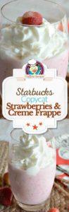 Homemade Starbucks Strawberries and Cream Frappuccino photo collage