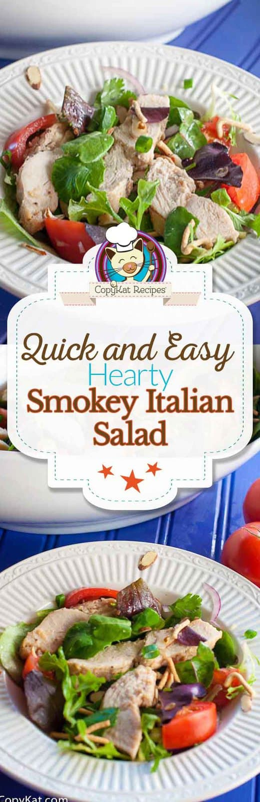 Enjoy this Smokey Italian Salad Dressing made with Wish-Bone® Italian Dressing and Tyson® Grilled & Ready® Chicken #TBD.