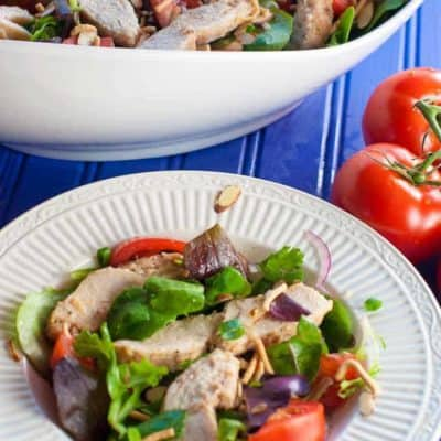 Smokey Italian Salad Bowl packs a lot of protein and if very filling.