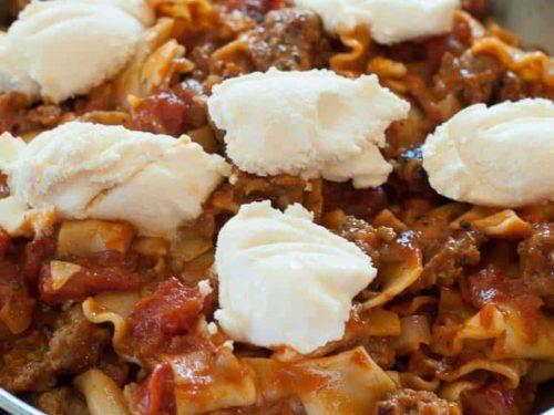 Phenomenal Skillet Lasagna A Better Hamburger Helper Download Free Architecture Designs Embacsunscenecom