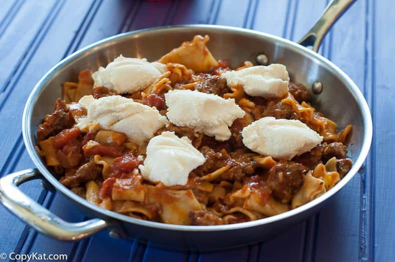 Make this inexpensive skillet lasagna today.