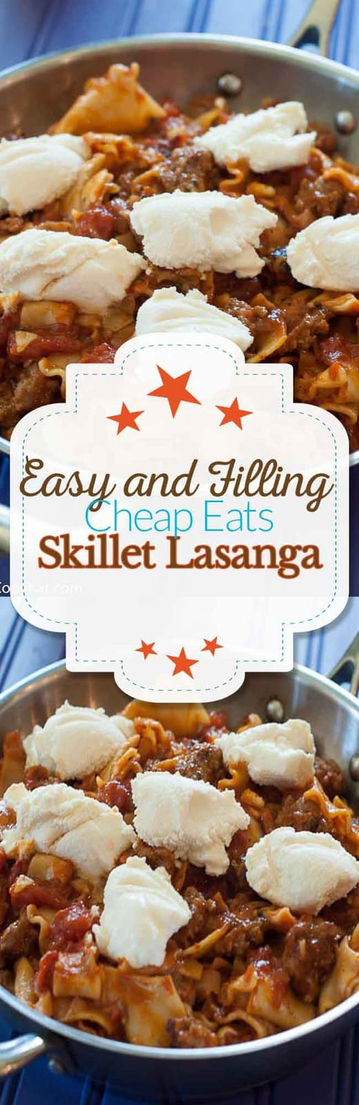 Make this easy to prepare skillet lasagna for an inexpensive meal your family will love.