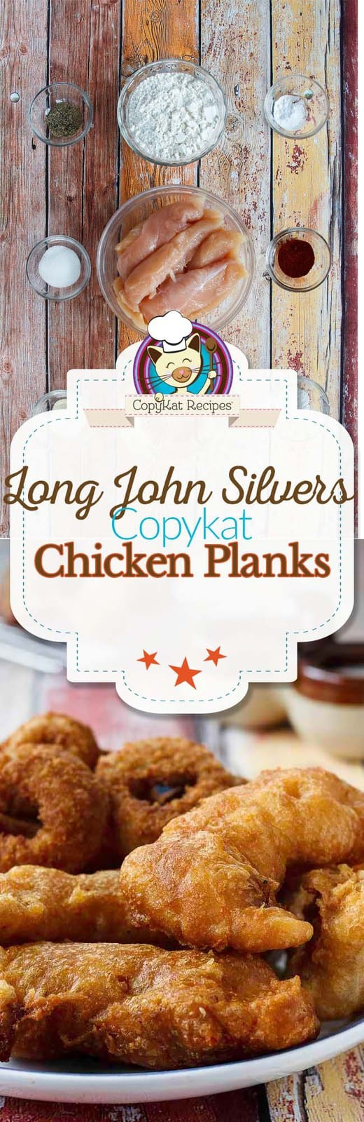 Make your own homemade Long John Silvers Chicken Planks with this easy copycat recipe. #copycat #chicken #chickentenders #longjohnsilvers #recipe