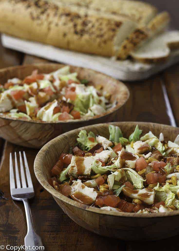 Two bowls of BBQ Ranch chicken salad