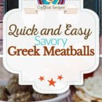 Greek meatballs photo collage
