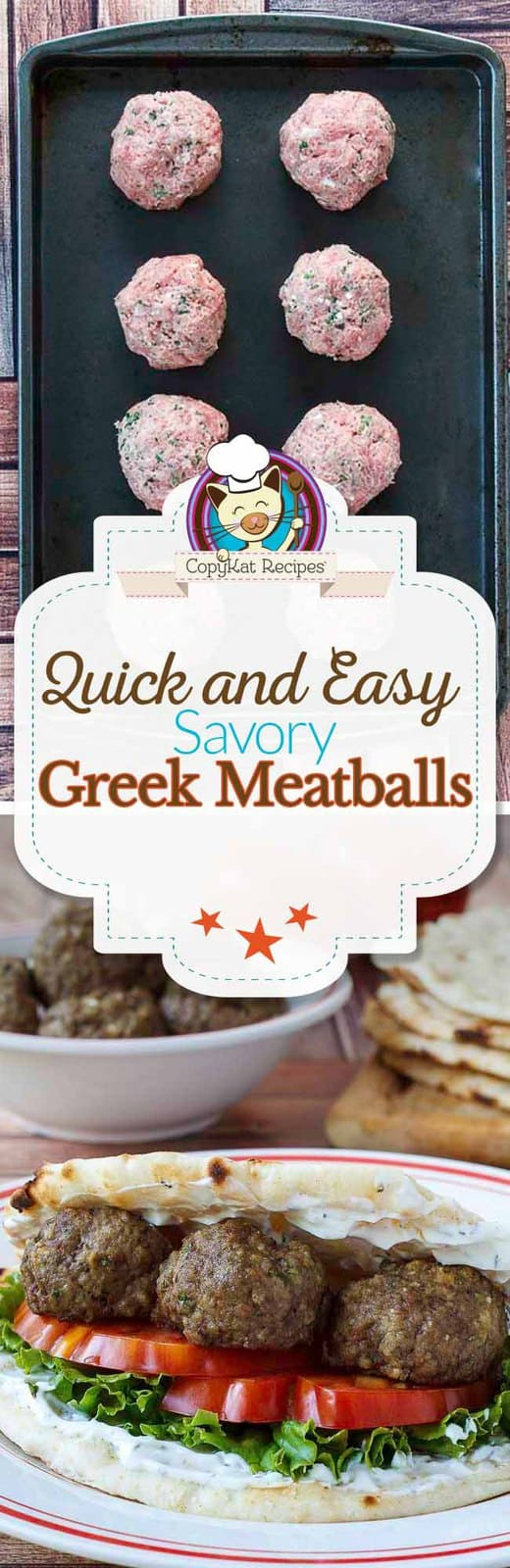 These Greek meatballs are so easy to prepare and so full of flavor. #HealthierSideofMayo