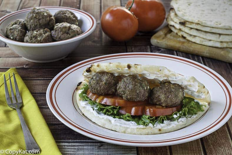 These Greek Meatballs have one secret ingredient, I bet you can't guess what it is.