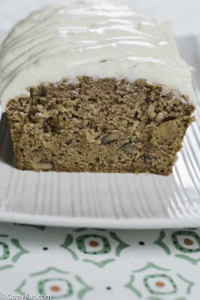 Homemade Zucchini bread is delicious when made from fresh zucchini.