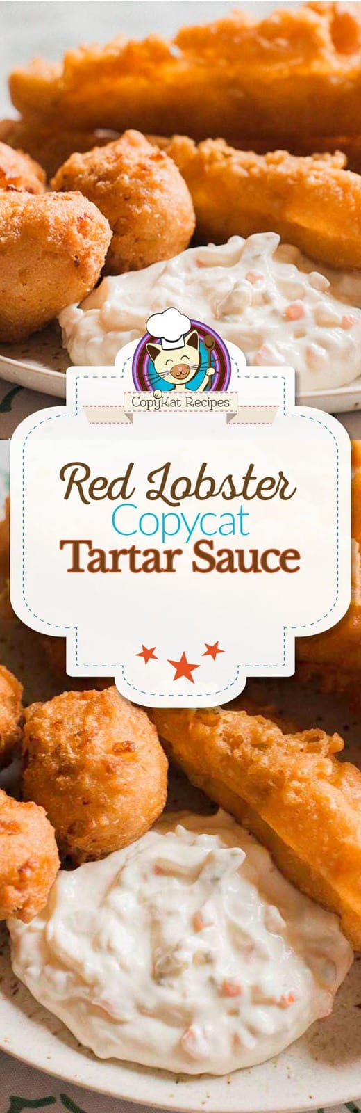 Make your own copycat recipe for Red Lobster Tartar sauce with this easy recipe. #tartar #tartarsauce #mayonniase #copycat #copycatrecipe #sauce #redlobster #homemade