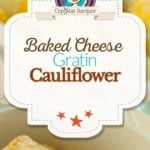 Baked cauliflower gratin photo collage