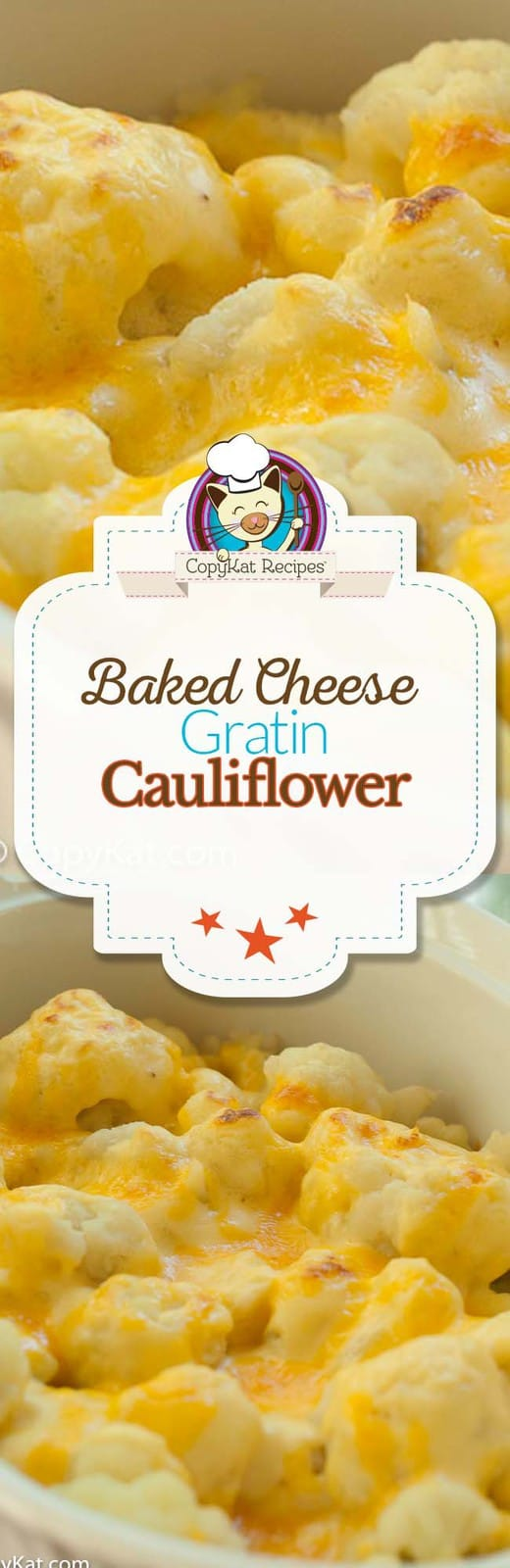 Baked Cheese Cauliflower Gratin, this is an easy recipe and is a great way to enjoy cauliflower.