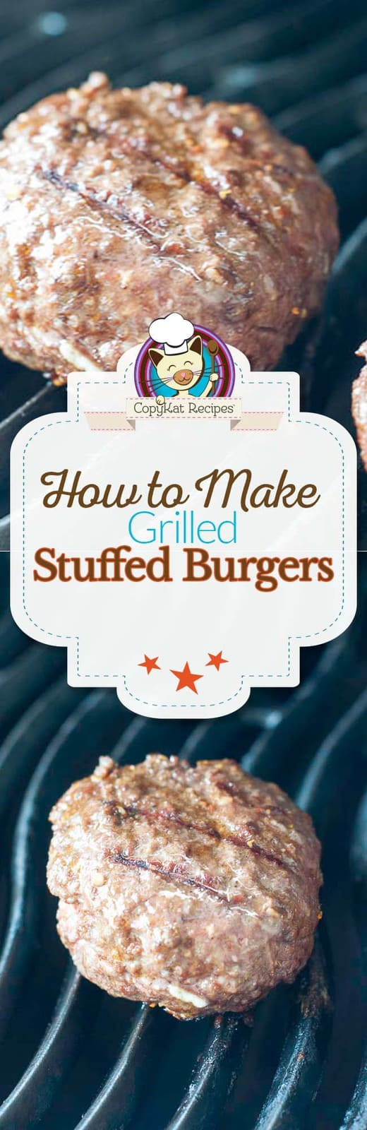 Learn how make grilled stuffed burgers.