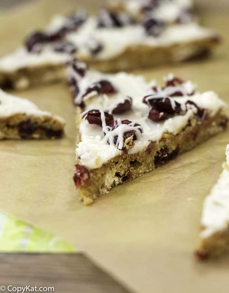 Recreate your favorite Starbucks Cranberry Bliss Bar at home with this copycat recipe.