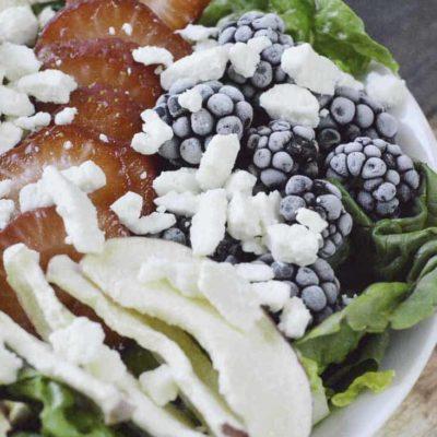 homemade Wendy's Summer Berry Chicken Salad
