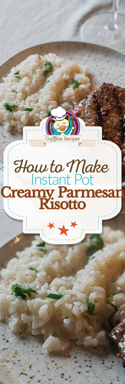 Make delicious creamy risotto in the Instant Pot, it is completely effortless to make risotto in a pressure cooker. #instantpot #risotto #Parmesan #pressurecooker