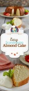 Scandinavian Almond Cake photo collage