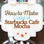 Collage of homemade Starbucks Cafe Mocha photos