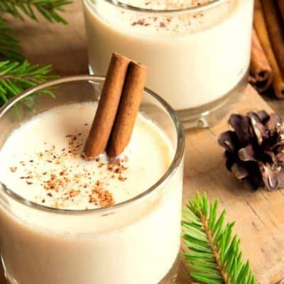 Make a delicious picture of Boozy Egg Nog, you will never buy commercial Egg Nog again!