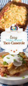 taco casserole photo collage