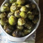 Homemade Red Lobster Fresh Roasted Brussel Sprouts with brown butter sauce in a serving bowl