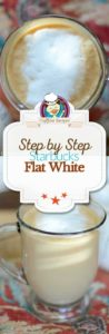 flat white coffee photo collage