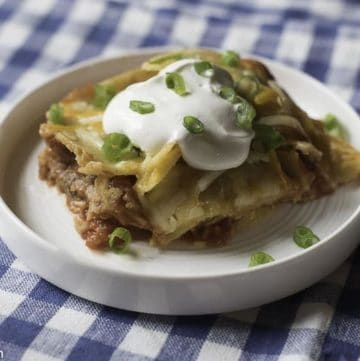 a serving of taco casserole on a plate