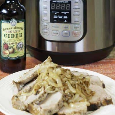 Make a delicious apple cider pork loin in your instant pot. Your family will love this easy to prepare recipe.