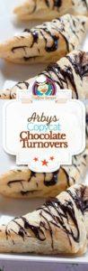 chocolate turnovers photo collage