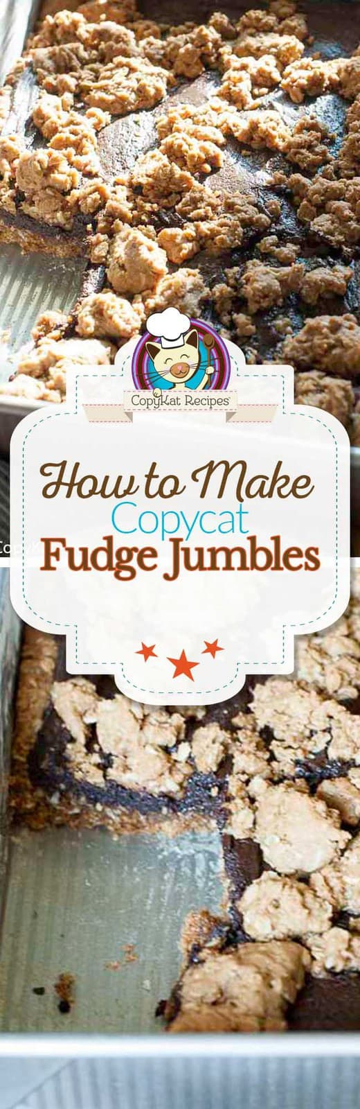 Recreate this 1980s classic copycat cookie.  These Fudge Jumble cookies will remind you of the chocolate oatmeal cookie bar you have always loved.